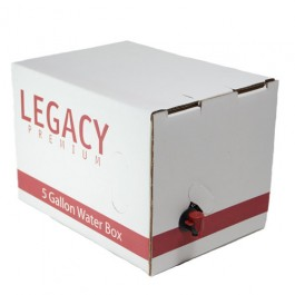 Legacy water storage box with pouch inside.