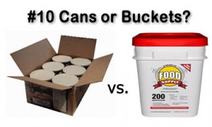 Buckets vs Cans in food storage