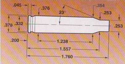 Prepped brass diagram for reloading