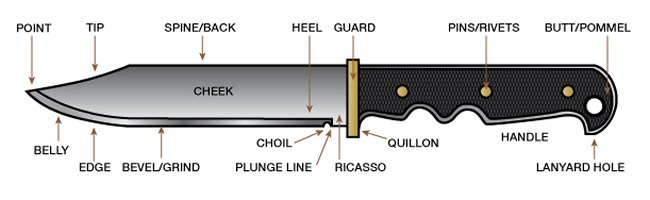 The Different Parts Of A Knife  Anatomy Of A Survival Knife