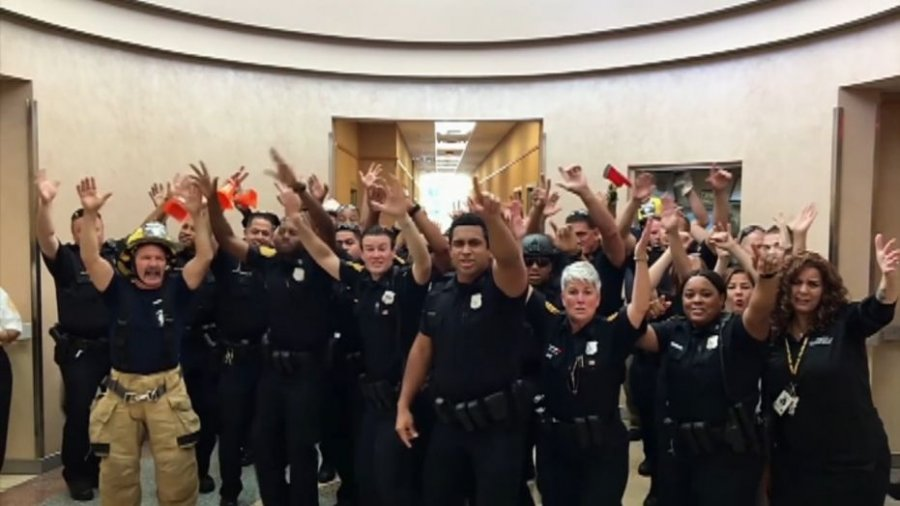 Virginia police department's lip sync battle to 'Uptown Funk' goes viral