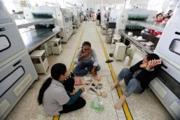 Hardworking Cambodian shoe maker has little time for politics