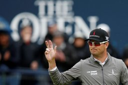 Americans Kisner and Zach Johnson share The Open lead