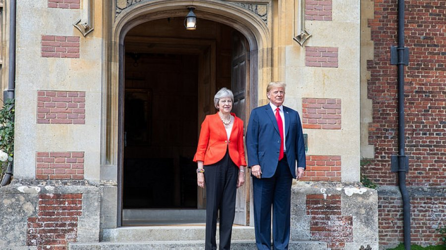 Here are the best photos from Trump's UK visit