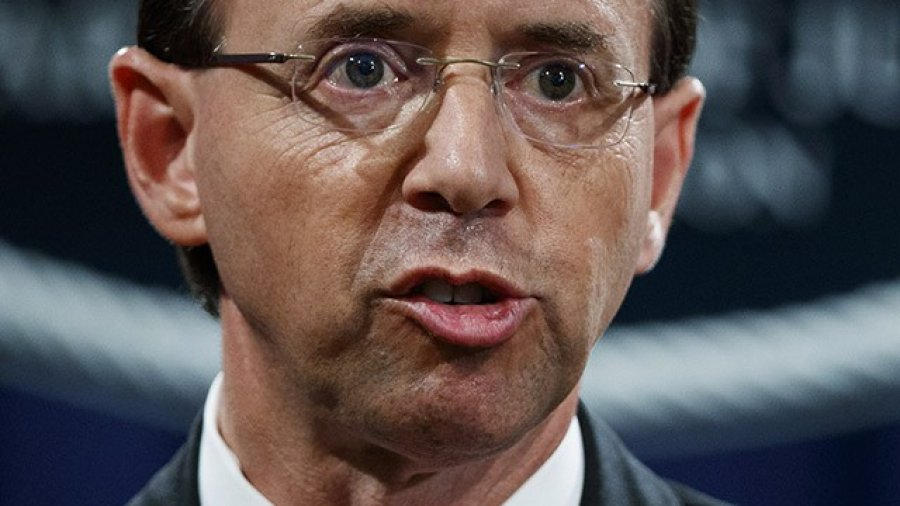 Rod Rosenstein Scolds Deep State Critics, Insists FBI Agents Aren't Leaking