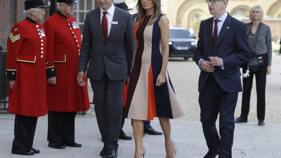 PICTURES: First Lady Melania Trump Meets British War Veterans