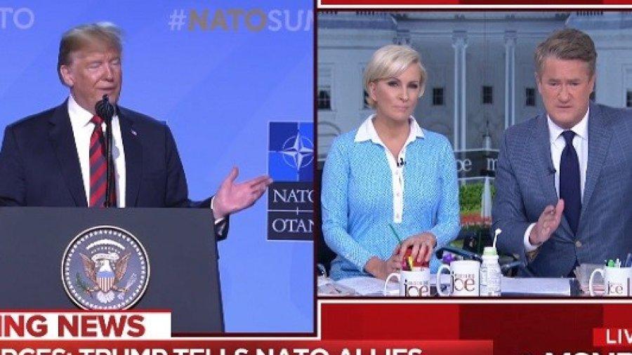Watch: Joe, Mika Celebrate 'Morning Joe' 'Fact-Check' During Trump NATO Press Conference