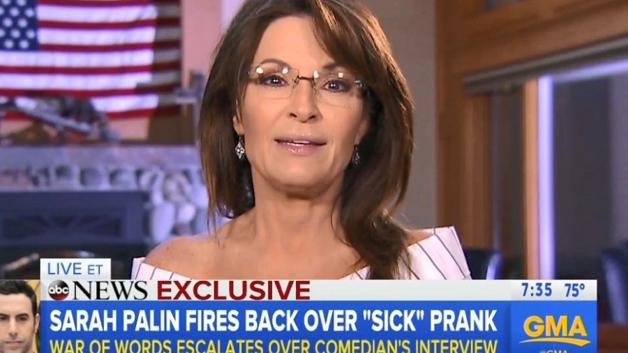 Palin: Sacha Baron Cohen's Prank Interview 'Mocked' Our Values, the Disabled