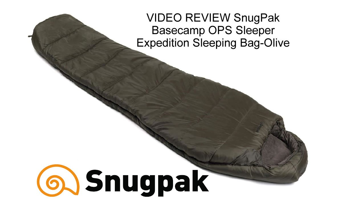 VIDEO REVIEW SnugPak Basecamp OPS Sleeper Expedition Sleeping Bag-Olive