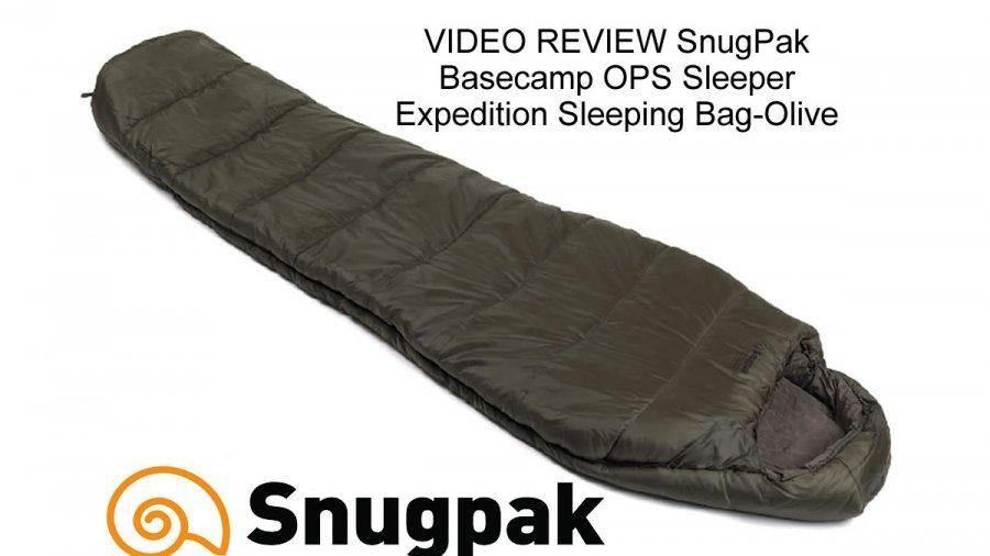 VIDEO REVIEW SnugPak Basecamp OPS Sleeper Expedition Sleeping Bag-Olive