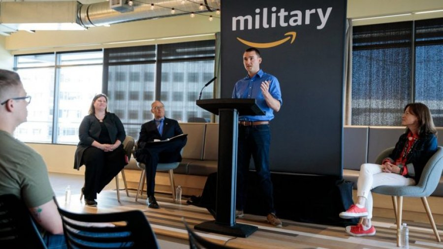 Amazon welcomes first graduates of program to turn veterans into technologists