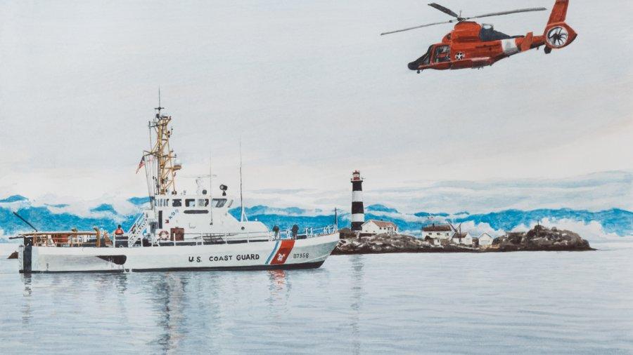 Coast Guard on the scene at tragic remote island crash site