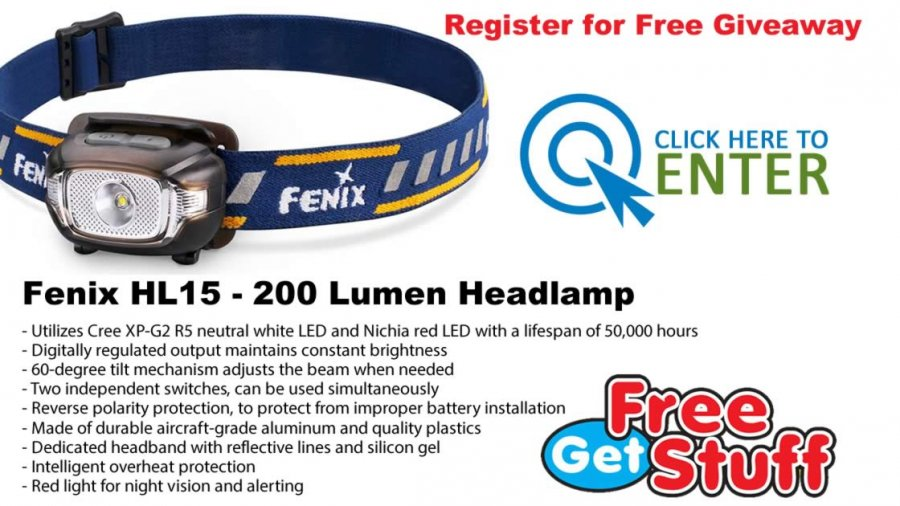 Fenix HL15 - 200 Lumen Headlamp