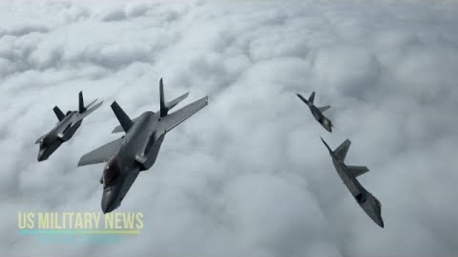 US F-22 Stealth Jets Simulate Dogfights with Norway's F-35 Warplanes