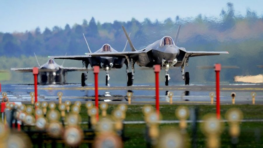 Air Force launches dozens of F-35 stealth fighters for combat-power exercise in Utah