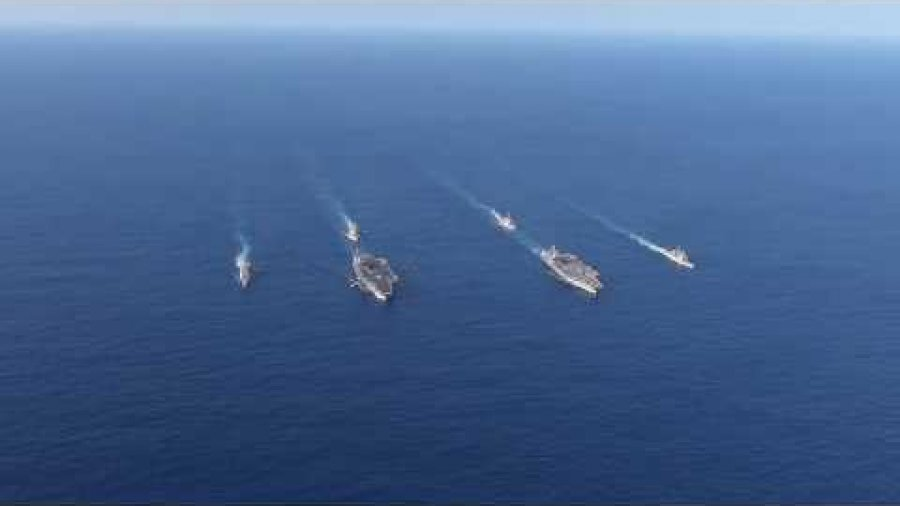 USS John C. Stennis and USS Ronald Reagan Dual Carrier Strike Force Exercise