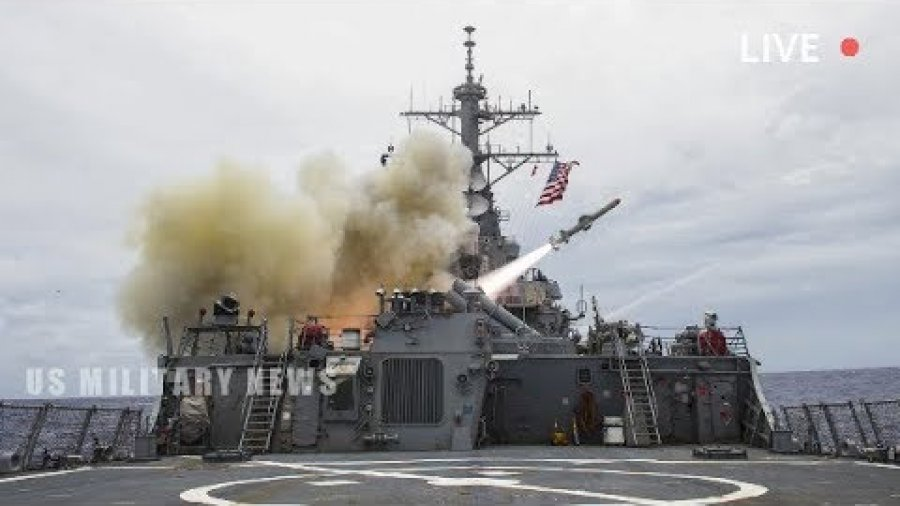 US Warship Conducts Massive Live-Fire Drill In Atlantic Ocean, Amid Tension With Russia