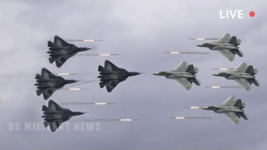 Air Battle: Russia's Su-57 vs  America's Stealth F-22 (Which Is Better)