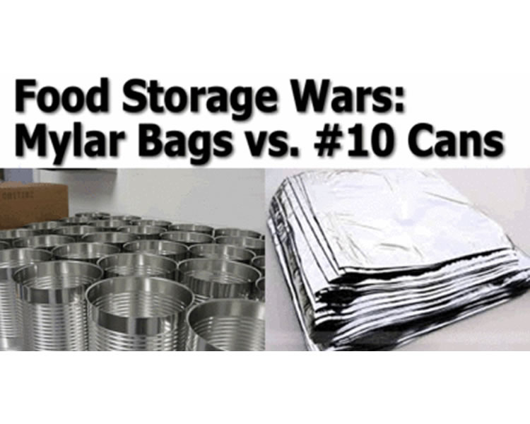 Mylar Bags vs #10 Cans