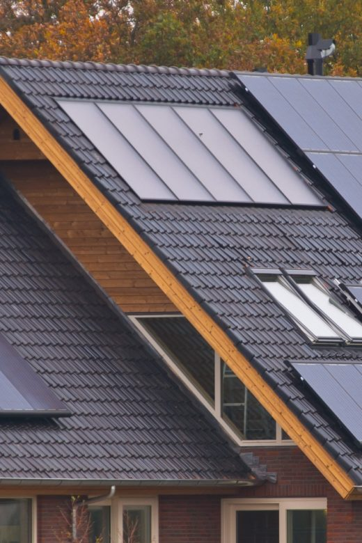 Solar panels on house
